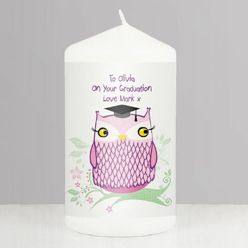 Miss Owl Teacher Candle